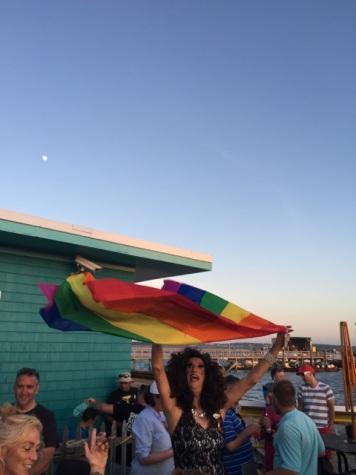 The Duchess flies the flag